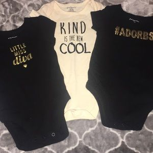 Bundle of 3 infant onesies